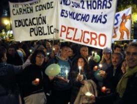 Nueva guerra de cifras en la huelga educativa