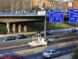 Cortada la vía de servicio de la salida 30 de la M-607 en Colmenar Viejo
