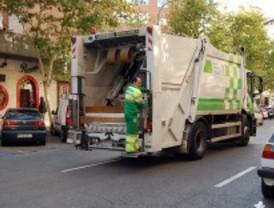 Refuerzo en la recogida de basura después de Reyes