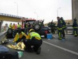 La bebé herida en el accidente de la M-40 será dada de alta este martes