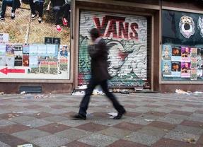 Continua la huelga de limpieza viaria en Madrid por tercer día consecutivo. En la imagen la calle Montera en la almendra central de la capital.