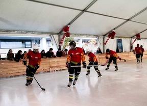 Javier Fernández inaugura 'Cibeles sobre hielo'