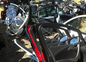 Piezas de coches robados