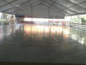 Una pista de patinaje sobre hielo en el centro