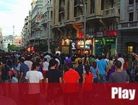 Los indignados marchan sobre el centro de Madrid