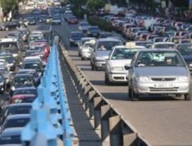 Tráfico denso en la capital