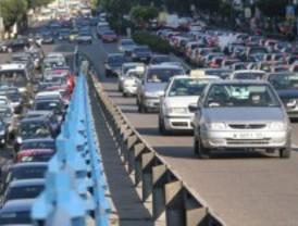 Tráfico denso en el centro de Madrid