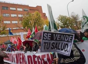 Manifestación contra las privatizaciones, el sábado pasado