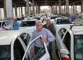 Parada de taxis a la salida del Ave en Atocha
