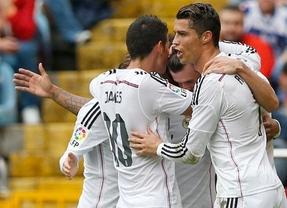 Cristiano celebra uno de los goles.