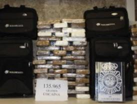 Incautados 140 kilos de cocaína en Barajas