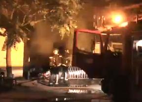 Un incendio en Perales del Río provoca diez heridos leves