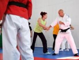 Policías judocas