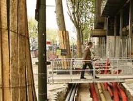 Las obras en Serrano obligan a cortar el tráfico de Marqués de Villamagna