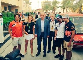 El Rey Juan Carlos apoya a los pilotos españoles en Bahréin