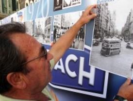Los madrileños reconstruyen la historia de la Gran Vía con imágenes antiguas y actuales