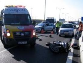 Muere en un accidente de moto un padre que viajaba con su hija, herida grave