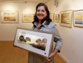 Acuarelas en la galería Tierra de Fuego