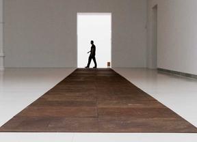 Exposición retrospectiva 'Escultura como lugar' de la obra escultórica de Carl Andre en le Palacio de Velazquez del retiro perteneciente al Cars.