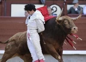 Petardo ganadero y oreja facilonga para Del Álamo en el debut de Felipe VI en San Isidro