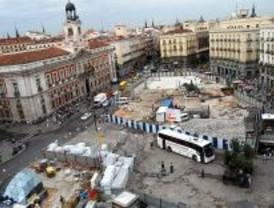 Las obras de la Puerta del Sol van a marchas forzadas