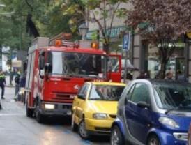Siete personas intoxicadas por un incendio en el centro de Madrid