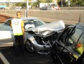 Cinco heridos tras un accidente en la calle Alcalá