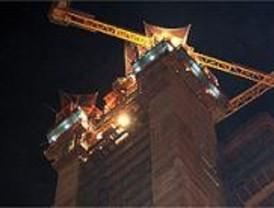 Sofocado el incendio declarado en la Torre Repsol, en la antigua Ciudad Deportiva del Real Madrid