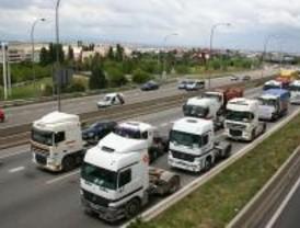 Marcha de camiones hacia Madrid