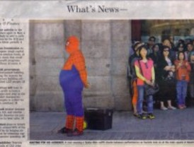 El Spiderman madrileño vuela en Europa