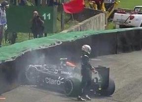 Accidentado comienzo de los pilotos españoles en el GP de Brasil