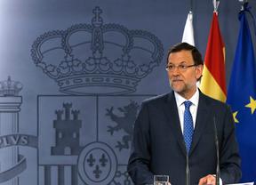 Mariano Rajoy durante la cumbre hispano polaca. Comparece el mismo día que Bárcenas declara en el juzgado.
