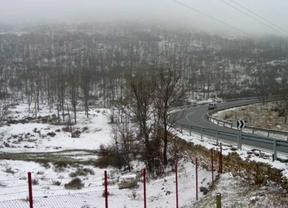 Previsión de nieve de hasta 5 centímetros en la sierra para la madrugada del lunes