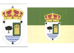 Bandera y escudo de Redueña