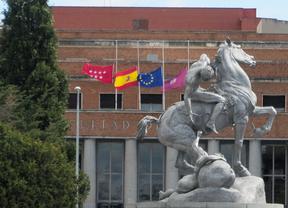 Estatua ecuestre frente a la Facultad de Medicina de la UCM