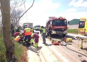 Dos muertos y dos heridas al chocar un vehículo y un camión en Pozuelo del Rey