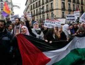 Una manifestación improvisada pide paz en Palestina