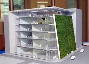 Maqueta del museo de arquitectura que se construirá en el Paseo del Prado por la Fundación Ambasz