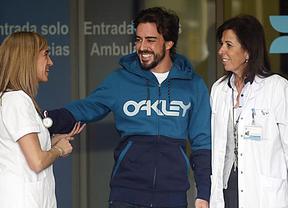 Alonso abandona el hospital sin aclarar los motivos del accidente