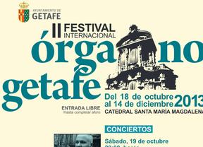 Cartel del II Festival Internacional de Órgano de Getafe
