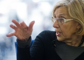 Entrevista con Manuela Carmena, candidata al Ayuntamiento de Madrid por Ahora Madrid, en la Terraza de Gran Vía.