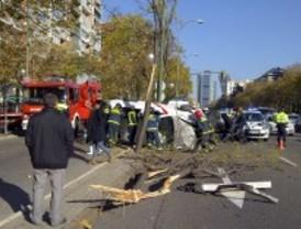 Dos heridos en una colisión en la Castellana