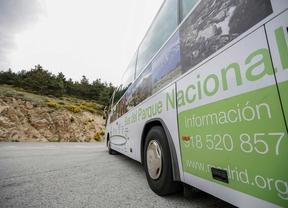 Un bus verde para recorrer el Parque Nacional de Guadarrama
