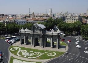 La Puerta de Alcalá, testigo de la elección olímpica