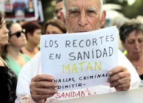 Protesta ante el Carlos III por el caso del ébola, miércoles 8 de octubre
