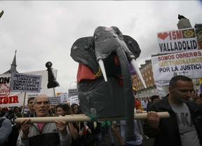 Escasa asistencia a la protesta contra la monarquía