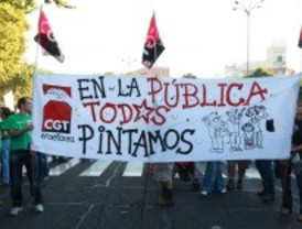 Los institutos afrontan una quinta jornada de huelga