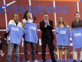 Los deportistas se convierten en los 'mensajeros' de Madrid'16