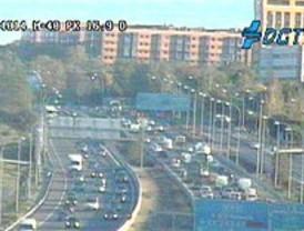 Madrid amanece con tráfico difícil