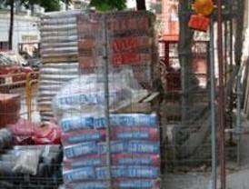 Dos detenidos por robar material de construcción